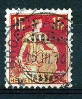 """HELVETIA - Mi Nr 109 - """"BROC - FABRIQUE"""" - Perfin - (ref. 3030) - Gebruikt"""