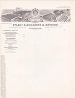 08 HARAUCOURT COURRIER  Matériel Textile  Fonderie   Ets ALEXANDRE & ANTOINE  -X117  ARDENNES Sedan - 1900 – 1949
