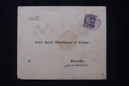 ALLEMAGNE - Enveloppe Commerciale De Berlin Pour Bruxelles En 1900, Vignette Au Verso - L 91905 - Storia Postale