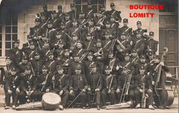 14 Caen  Cpa Carte Photo Photographie Fanfare Militaire Orchestre Cachet 1910 - Caen