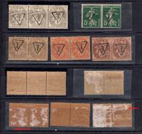 """D136-FRANCE RARE Blanc Et Semeuse Surchargés """"T"""" Pour Utilisation En Tant Que Taxe - 1859-1955 Postfris"""