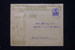 ALLEMAGNE - Enveloppe Commerciale De Göppinnen Pour Münsingen - L 91913 - Storia Postale