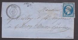 LAC - N°14 OBL. PC + T22 DEMU / 31 MAI 61 - 1849-1876: Klassieke Periode