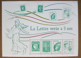France 2014 Feuillet F4908 La Lettre Verte A 3 Ans Neuf - Ongebruikt