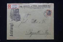 ALLEMAGNE - Enveloppe Commerciale En Recommandé De Schneeberg Pour Bayreuth En 1908 - L 91920 - Storia Postale