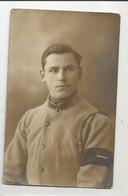 Militaria Carte Photo Militaire Avec Brassard Noir écrite De Dampierre En 1921 , Atelier Rembrandt Strassburg - Personnages