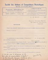 FRAMERIES MONSIEUR MAURICE DELAUNOIS PIECE CHANSON DÉAMOUR - 1900 – 1949