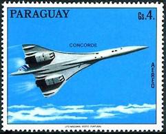 Paraguay 1975 Aérospatiale British Aircraft Corp Concorde ( YT PA 711 , Mi 2744) - Concorde