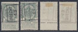 """Armoiries - N°81A Préo """"Brecht 13"""" Position A/B Complet / Cote 25e Collection Spécialisée. - Roller Precancels 1910-19"""