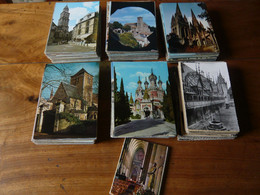LOT DE 600 CARTES ANCIENNES ET MODERNES D'EGLISES, CATHEDRALES FRANCAISES - 500 Postcards Min.