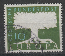 Bund 294 Gestempelt - Europa 1958 Mit Wasserzeichen - Usati