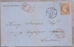 LAC - N°16 OBL. Pointillés.+ CàD PARIS 3e - 13 OCT. 60 - 1849-1876: Periodo Clásico