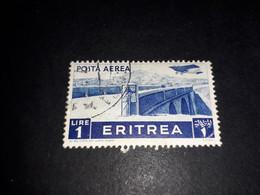"""A8MIX24 COLONIE ITALIANE ERITREA 1936 POSTA AEREA SERIE PITTORICA LIRE 1 """"XO"""" - Eritrea"""