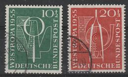 Bund 217/218 Gestempelt - Westropa 1955 Düsseldorf - Usati