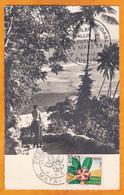 1958 - CP De Mata Utu, Wallis Vers Le Raincy, France - Montrouziera Cauliflora - Houp - 1er Jour - Covers & Documents