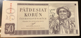 Ceskoslovenska CECOSLOVACCHIA 50 KORUN 1950 SPECIMEN Sup Lotto 2388 - Slovakia