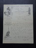 FACTURE - 60 - DEPARTEMENT DE L'OISE - ST VAAST LES MELLO, PRES CRAMOISY 1905 - OUTILLAGE POUR CARRIERS : SAILLY FRERES - Zonder Classificatie