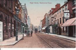 278013Burton On Trent, High Street With Tram - Ohne Zuordnung