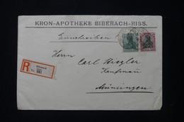 ALLEMAGNE - Enveloppe Commerciale En Recommandé De Biberach En 1917 Pour Musingen - L 91928 - Storia Postale