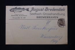 ALLEMAGNE - Carte Commerciale ( Pêche ) De Bremerhaven En 1916 Pour Weissenburg - L 91929 - Storia Postale