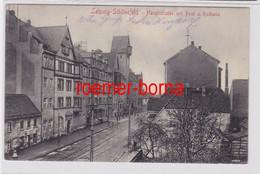 86647 Ak Leipzig Schönefeld Hauptstraße Mit Post Und Rathaus 1915 - Sin Clasificación