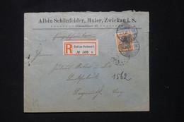 ALLEMAGNE - Enveloppe Commerciale En Recommandé De Zwickau En 1905 Pour Bayreuth  - L 91932 - Storia Postale