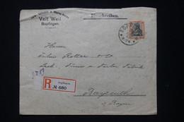 ALLEMAGNE - Enveloppe Commerciale En Recommandé De Bopfingen En 1913 Pour Bayreuth  - L 91933 - Storia Postale