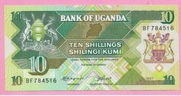 10 SHILLINGS 1987 UNC - Uganda