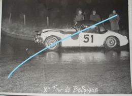 Photox4 Xème Tour De Belgique Province Liège   Voiture Auto Automobile Oldtimer Car Wagen - Cars