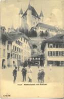 Cpa THUN - Rathausplatz Und Schloss (animée) C.P.N. 5149 - BE Berne