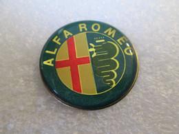 PIN'S     LOGO    ALFA  ROMEO  Ø 29mm  VERT - Alfa Romeo