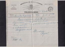 DDY 805 --  Formule De Télégramme (man.) D' ETAT - BXL à Télégraphique BRUGES Postes 1885 - Pour Piens , Ingénieur Chef - Telegraph