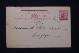 MAURICE - Entier Postal Surchargé, De Curepipe En Local En 1902 - L 91947 - Mauritius (...-1967)