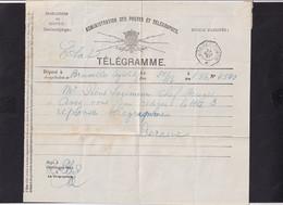 DDY 806 --  Formule De Télégramme (man.) D' ETAT - BXL à Télégraphique BRUGES -Poste 1887 - Pour Piens , Ingénieur Chef - Telegraph