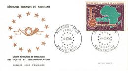 MAURITANIE 1967 COMMUNICATIONS UPU UAMPT RESTRICTED POSTAL UNIONS FDC - UPU (Universal Postal Union)