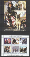 NS326 2003 GUINEA-BISSAU FIRE FIGHTERS TRAGEDY 11 SEPTEMBER NEW YORK 1BL+1KB MNH - Other