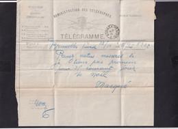 DDY 810 --  Formule De Télégramme BXL Vers Télégraphique BRUGES Station 1891 - Pour Directeur Ponts Et Chaussées BRUGES - Telegraph