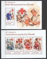 ST1783 2013 S. TOME E PRINCIPE 150TH ANNIVERSARY CRUZ VERMELHA RED CROSS KB+BL MNH - Red Cross