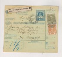 SLOVENIA,Austria 1914 ST.GEORGEN A.d, SUDBAHN Sveti Juraj Ob Juzni Zeleznici Parcel Card - Slovenia