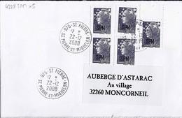 TP ST PIERRE ET MIQUELON N°BEAUJARD 4228x5 SUR LETTRE DE 975-ST PIERRE/22.12.2008 - Covers & Documents