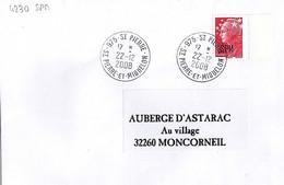 TP ST PIERRE ET MIQUELON N°BEAUJARD 4230 SUR LETTRE DE 975-ST PIERRE/22.12.2008 - Covers & Documents