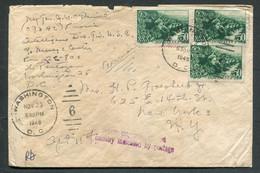 1434 DIPLOMATIC MAIL Cover From Russia USSR Soviet Union 1947 KOMSOMOL 50k (Mi #1283,CV=60e) Stamp Washington USA Cancel - Briefe U. Dokumente