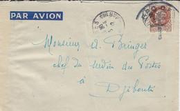 1942- Env. PAR AVION Affr. 1,50 F Pétain De CANNES  Pour DJIBOUTI -  Surcharge CCroix De Lorraine  F F O . C. F . - Guerra De 1939-45
