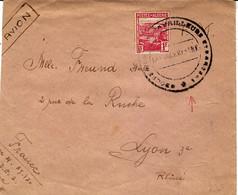 Sans Date -env.  Par Avion Affr. 1 F D'Algérie  Oblit. GROUPE DE TRAVAILLEURS ETRANGERS - Guerra De 1939-45