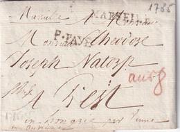 FRANCE  1785 LETTRE DE MARSEILLE - 1701-1800: Precursori XVIII