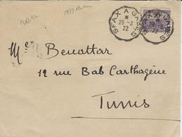 1922- Enveloppe Affr. 15 C Oblit. Conv. Ligne SFAX A GABES - Unclassified