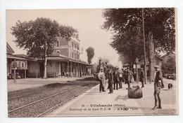 - CPA VILLEFRANCHE-SUR-SAONE (69) - Intérieur De La Gare P.L.M. (belle Animation) - Edition B. F. N° 66 - - Villefranche-sur-Saone