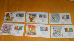 LOT 6 ENVELOPPES FDC DE 1993../ LE PLAISIR D'ECRIRE...CACHETS PARIS + TIMBRES - 1990-1999