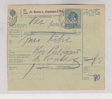SLOVENIA,Austria 1916 ST MAREIN B. ERLACHSTEIN SMARJE PRI JELSAH Parcel Card - Slovenia
