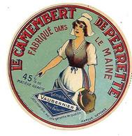 ETIQU CAMEMB. De PERRETTE Dom. De VAUBERNIER De Bois-Bellay Mayenne - Cheese